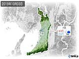 2019年10月03日の大阪府の実況天気