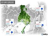 2019年10月03日の兵庫県の実況天気