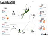 2019年10月04日の沖縄県の実況天気