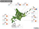 2019年10月06日の北海道地方の実況天気