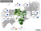 2019年10月08日の近畿地方の実況天気