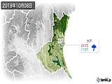 2019年10月08日の茨城県の実況天気