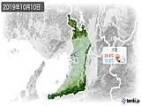 2019年10月10日の大阪府の実況天気
