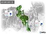 2019年10月11日の京都府の実況天気