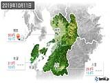2019年10月11日の熊本県の実況天気