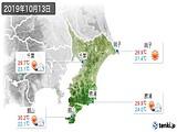 2019年10月13日の千葉県の実況天気