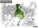 2019年10月13日の兵庫県の実況天気