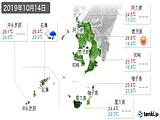2019年10月14日の鹿児島県の実況天気