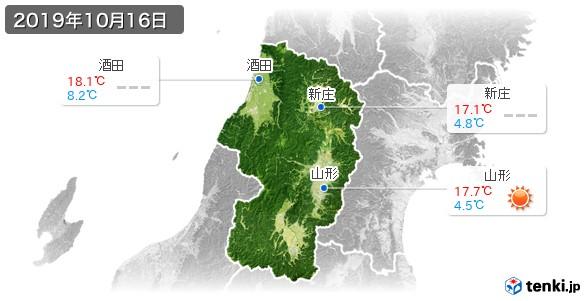 山形県(2019年10月16日の天気