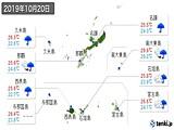2019年10月20日の沖縄県の実況天気