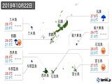 2019年10月22日の沖縄県の実況天気