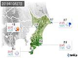 2019年10月27日の千葉県の実況天気