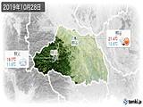 2019年10月28日の埼玉県の実況天気
