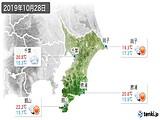 2019年10月28日の千葉県の実況天気