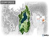 2019年10月31日の滋賀県の実況天気