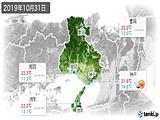 2019年10月31日の兵庫県の実況天気