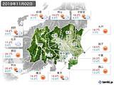 2019年11月02日の関東・甲信地方の実況天気