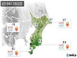 2019年11月02日の千葉県の実況天気