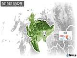 2019年11月02日の佐賀県の実況天気