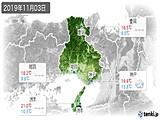 2019年11月03日の兵庫県の実況天気
