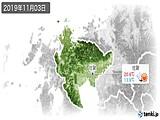 2019年11月03日の佐賀県の実況天気