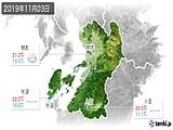 2019年11月03日の熊本県の実況天気
