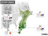 2019年11月04日の千葉県の実況天気