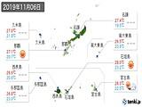 2019年11月06日の沖縄県の実況天気