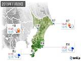 2019年11月09日の千葉県の実況天気