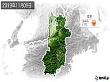 2019年11月09日の奈良県の実況天気
