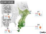 2019年11月10日の千葉県の実況天気
