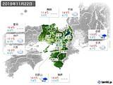 2019年11月22日の近畿地方の実況天気