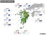 2019年12月01日の九州地方の実況天気
