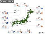 2019年12月01日の実況天気