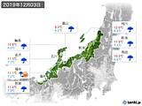 2019年12月03日の北陸地方の実況天気