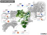 2019年12月03日の近畿地方の実況天気