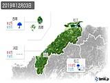 2019年12月03日の島根県の実況天気