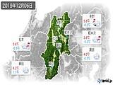 2019年12月06日の長野県の実況天気
