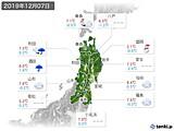 2019年12月07日の東北地方の実況天気