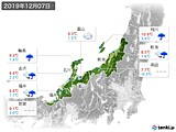 2019年12月07日の北陸地方の実況天気