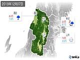2019年12月07日の山形県の実況天気