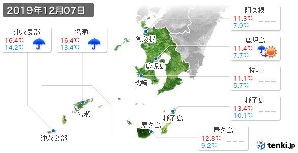 鹿児島県(2019年12月07日の天気