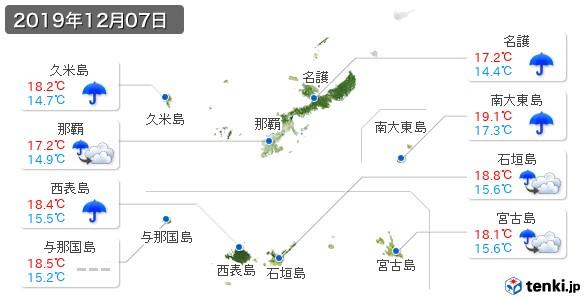 沖縄県(2019年12月07日の天気