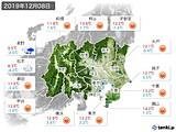 2019年12月08日の関東・甲信地方の実況天気