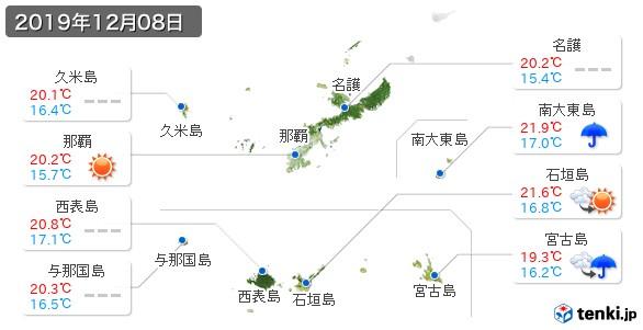 沖縄県(2019年12月08日の天気