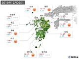 2019年12月09日の九州地方の実況天気