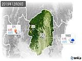 2019年12月09日の栃木県の実況天気