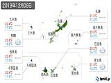 実況天気(2019年12月09日)