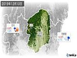 2019年12月10日の栃木県の実況天気