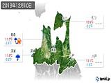 2019年12月10日の青森県の実況天気